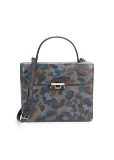 Furla Chiara Camo Leather Top Handle Bag