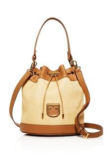 Furla Corona Small Raffia Bucket Bag