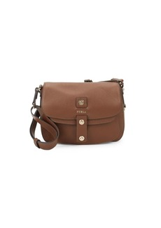 Furla Emma Flap Leather Shoulder Bag