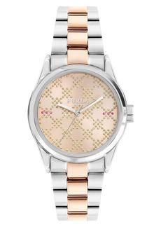 Furla Eva Glitter Dial Bracelet Watch, 35mm