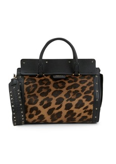 Furla Exotic Leather Grommet Satchel