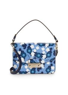 Furla Floral-Print Leather Mini Bag