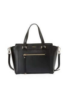 Furla Ginevra Medium Leather Satchel Bag