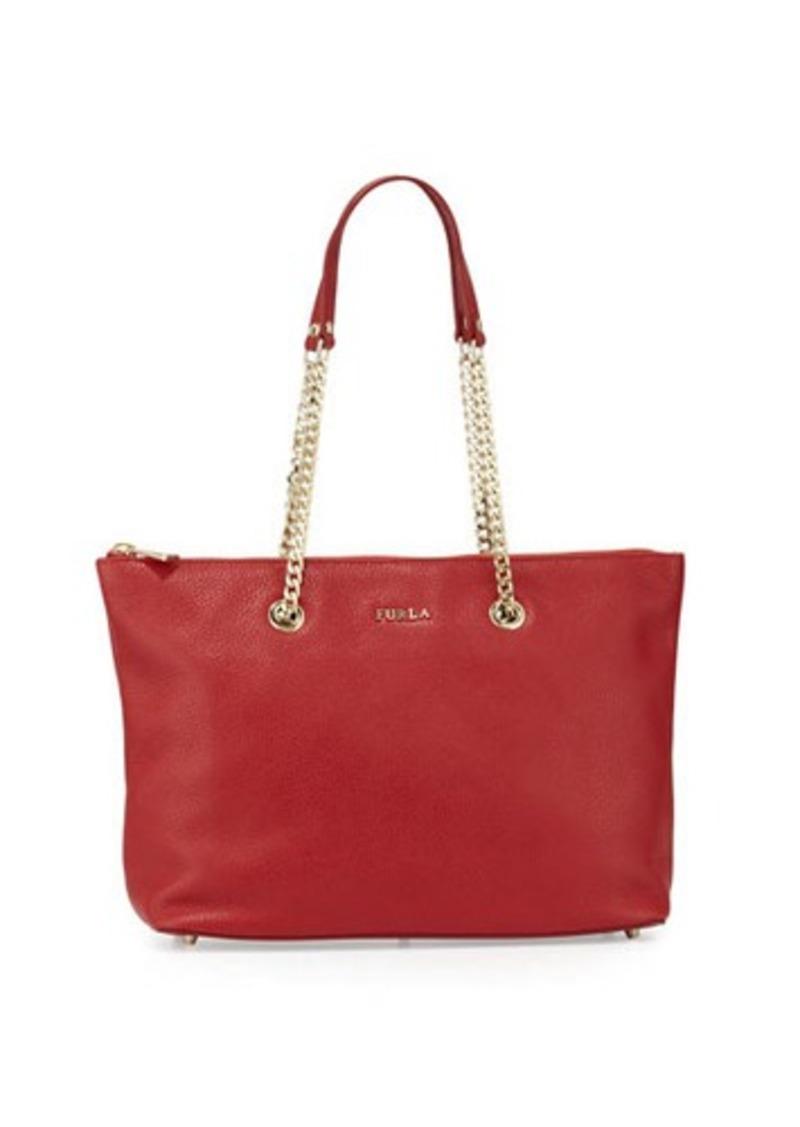 furla furla julia chain leather tote bag handbags shop it to me. Black Bedroom Furniture Sets. Home Design Ideas