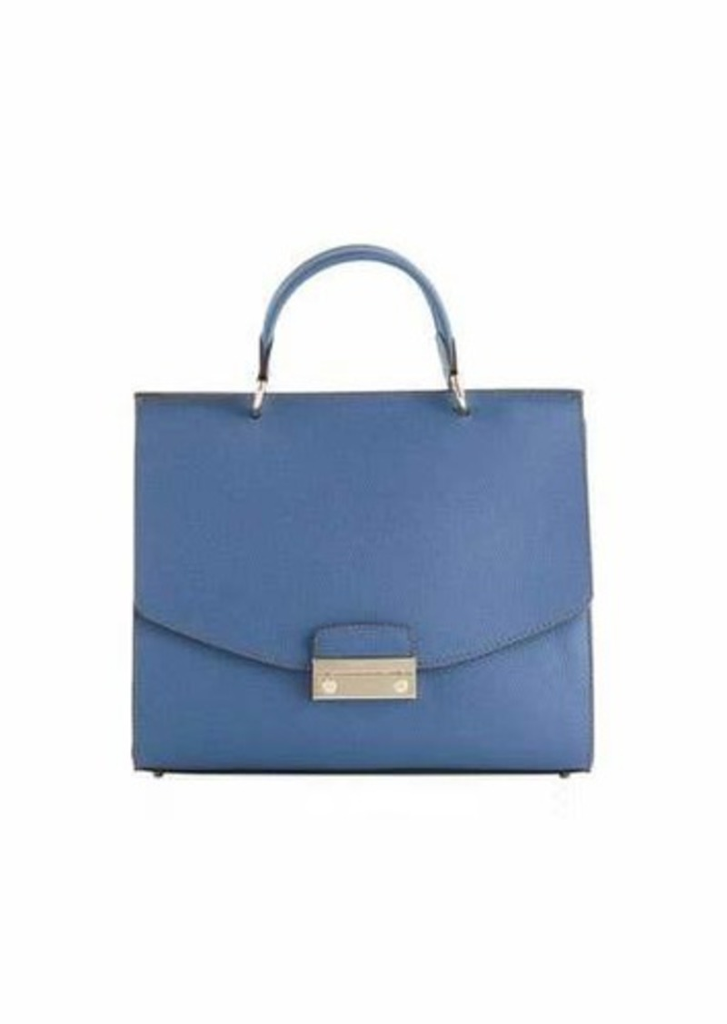 3edecfd858c SALE! Furla Furla Julia Medium Leather Top Handle Bag - Platino Hardware