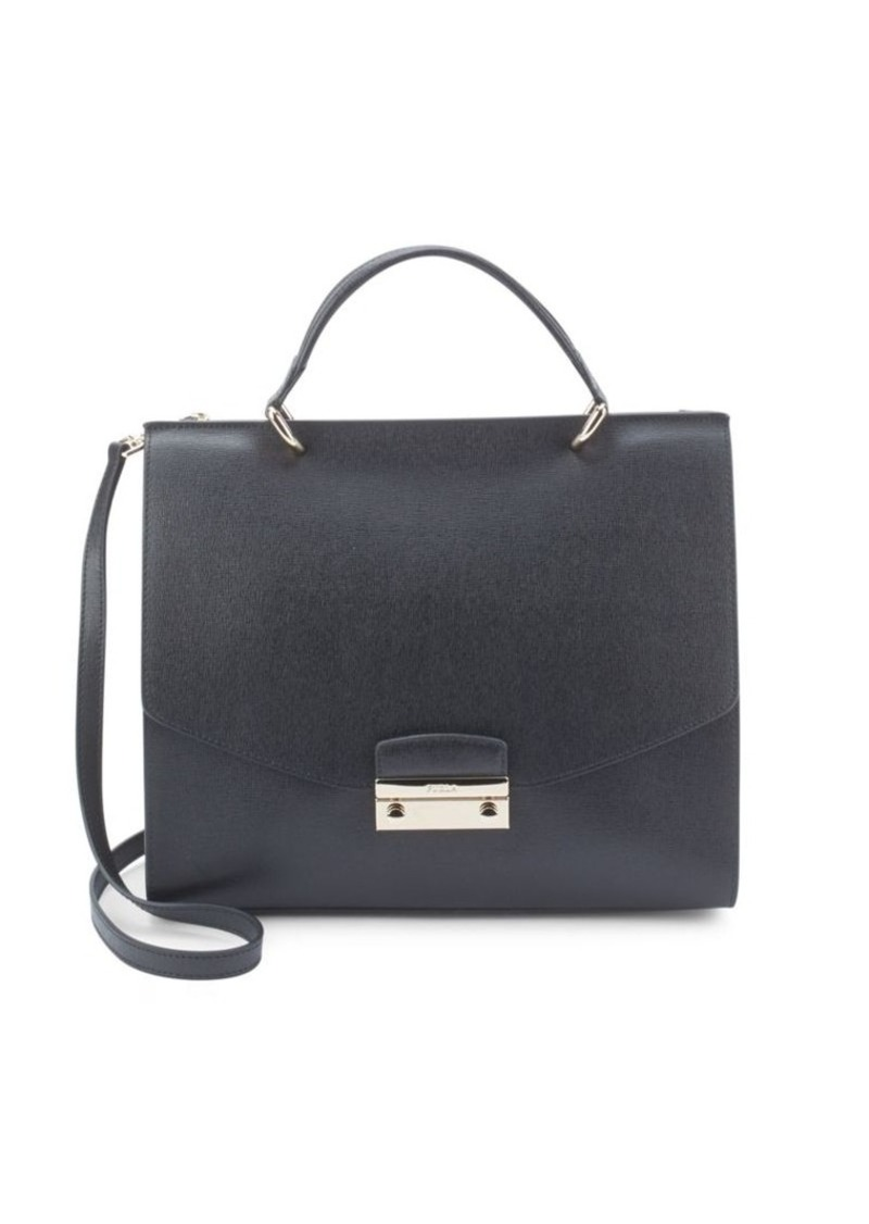 furla furla julia square leather handbag handbags shop it to me. Black Bedroom Furniture Sets. Home Design Ideas