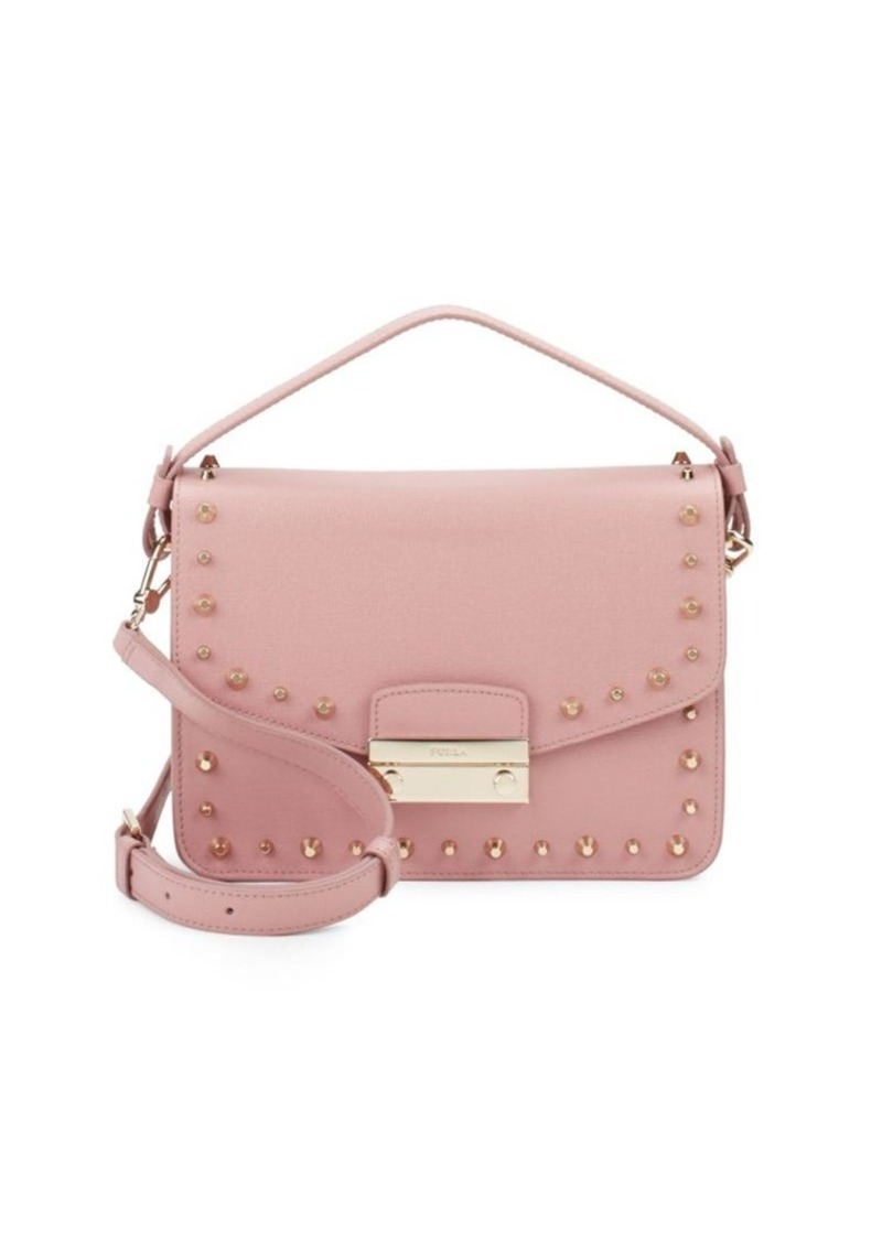 36aa7d2b9cb3 Furla Furla Julia Studded Leather Shoulder Bag