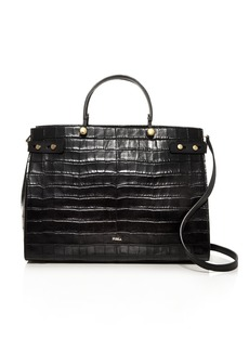 Furla Lady Large Croc-Embossed Leather Tote