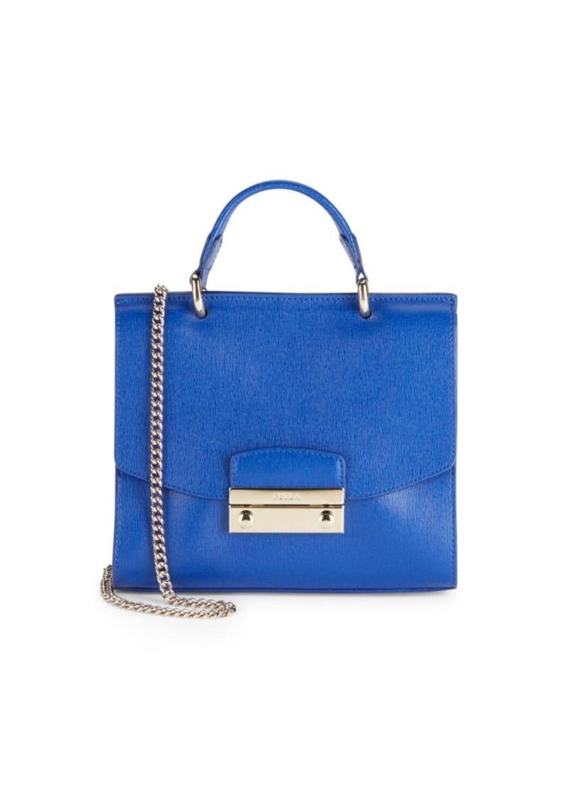 Furla Julia Leather Chainlink Crossbody Handbag