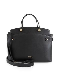 Furla Leather To Zip Shoulder Bag