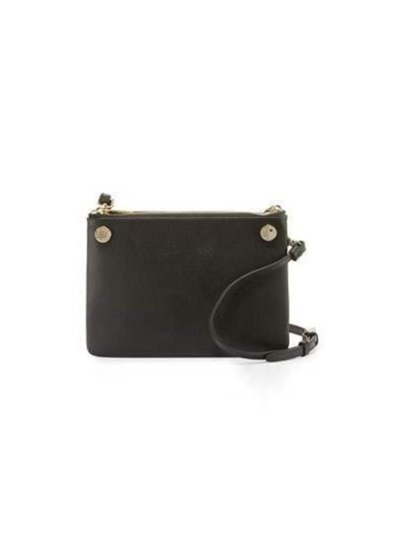buy online top design on sale Lilli Leather Double Pouch Crossbody Bag