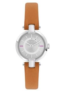Furla Linda Leather Strap Watch, 24mm