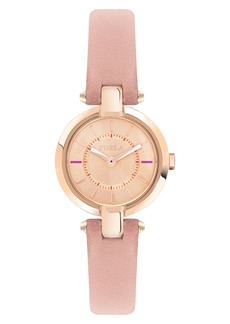 Furla Linda Leather Strap Watch, 24mm