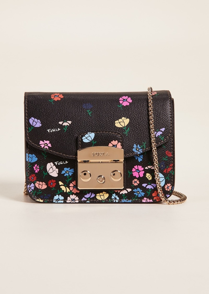 Furla Metropolis Mini Flower Cross Body Bag Handbags