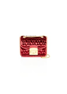 Furla Metropolis Mini Quilted Velvet Crossbody