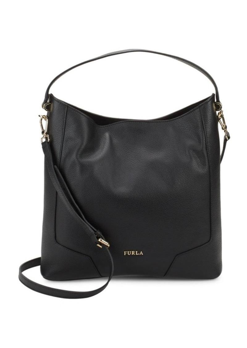 Furla Michelle Leather Hobo Bag