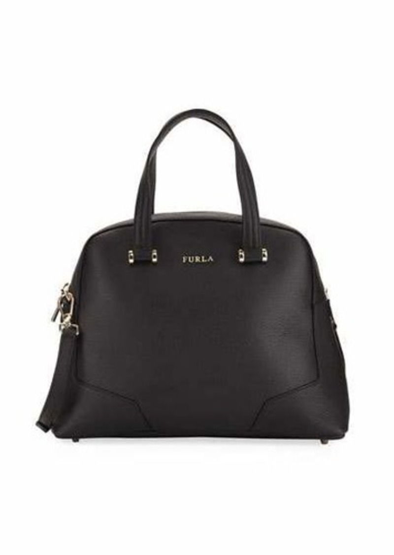 Furla Michelle Medium Leather Domed Satchel Bag