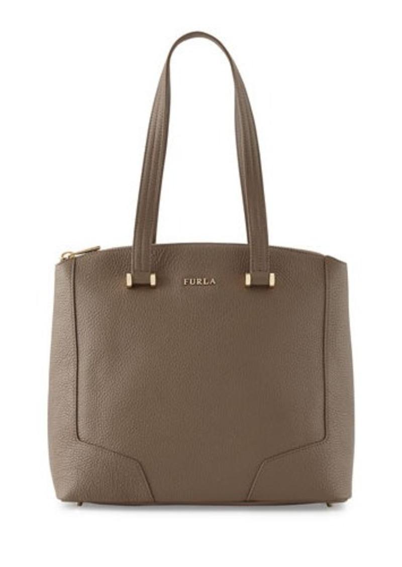 furla furla michelle medium leather tote bag handbags shop it to me. Black Bedroom Furniture Sets. Home Design Ideas