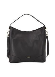 Furla Michelle Medium Pebbled Leather Hobo Bag