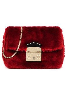 Furla Mini Metropolis Nuvola Faux Fur Crossbody Bag