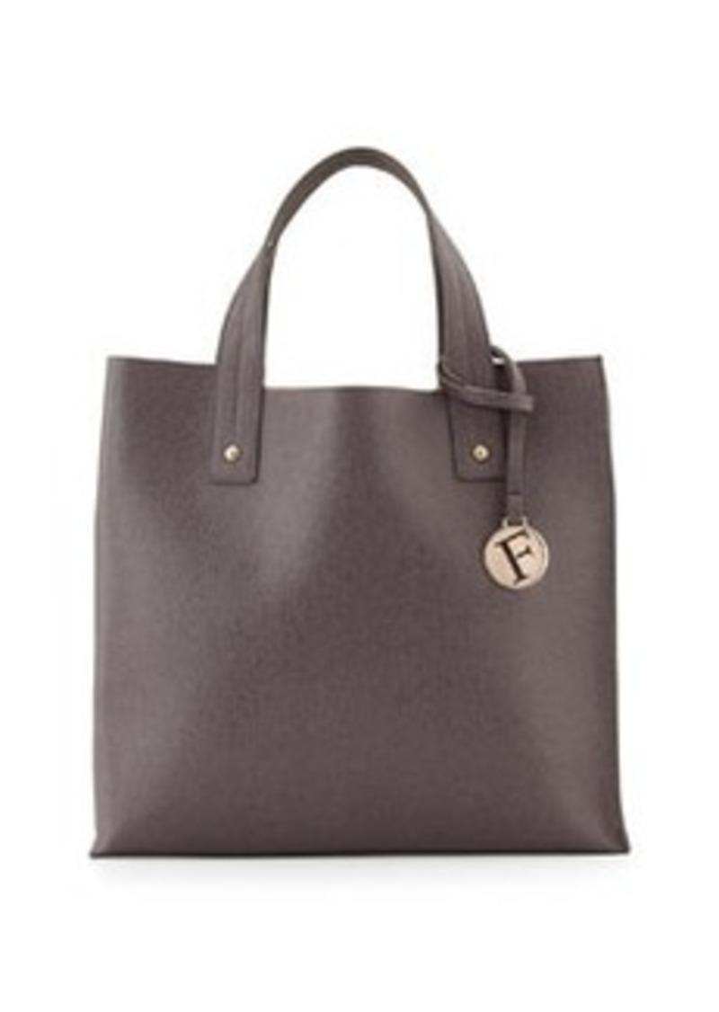 furla furla musa leather box tote bag mist handbags shop it to me. Black Bedroom Furniture Sets. Home Design Ideas