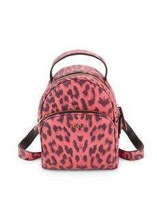 Furla Leopard Mini Leather Backpack