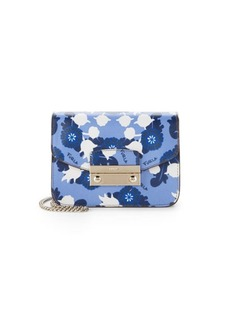 Furla Small Leather Floral Crossbody Bag