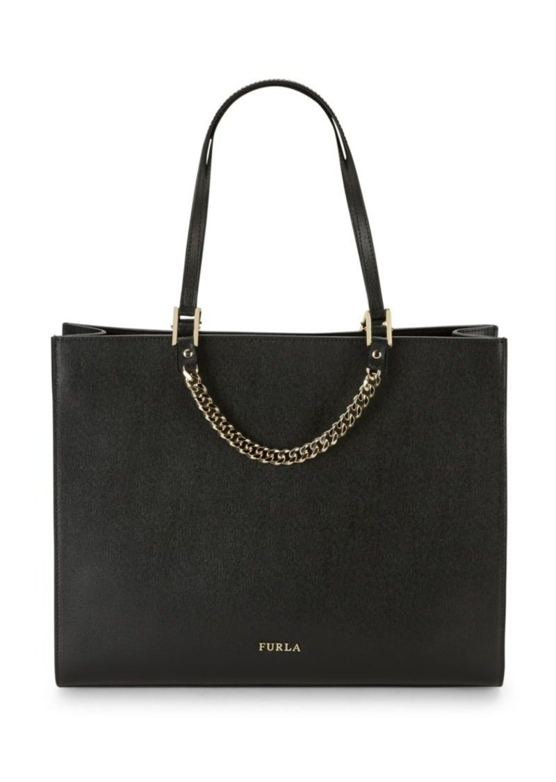 Furla Maggie Solid Leather Tote