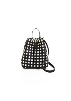 Furla Stacy Casanova Drawstring Leather Bucket Bag