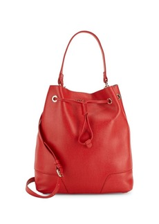 Furla Stacy Logo Leather Bucket Bag