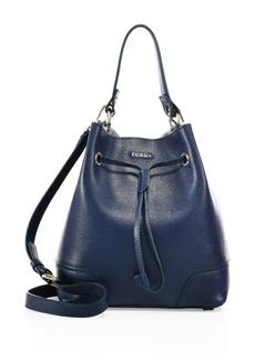 Furla Stacy Small Leather Drawstring Bucket Bag