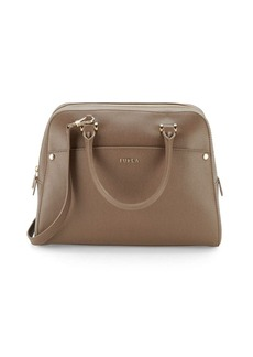Furla Margo Elena Textured Leather Satchel