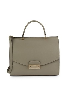 Furla Textured Leather Top Handle Bag