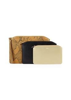 Furla Venere Three-Piece Leather Cosmetic Case Set