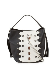 Furla Vittoria Glam Leather Bucket Bag and Pouch Set