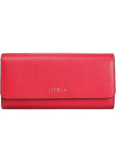 Furla Woman Babylon Textured-leather Continental Wallet Red