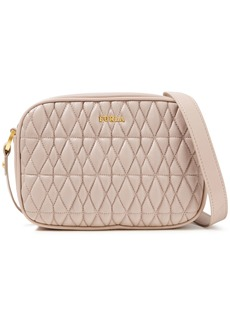 Furla Woman Cometa Mini Quilted Leather Shoulder Bag Pastel Pink
