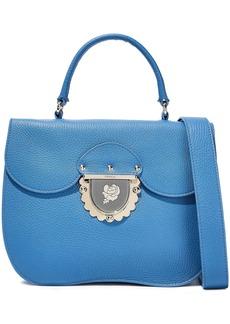 Furla Woman Ducale Textured-leather Shoulder Bag Azure