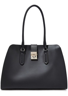 Furla Woman Leather Tote Black