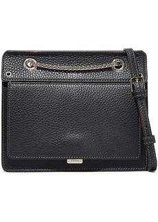 Furla Woman Like Mini Pebbled-leather Shoulder Bag Black