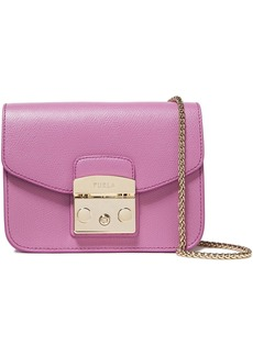 Furla Woman Metropolis Textured-leather Shoulder Bag Lavender