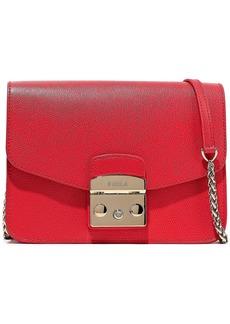 Furla Woman Metropolis Textured-leather Shoulder Bag Red