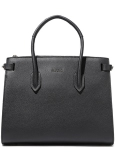 Furla Woman Pin Small Pebbled-leather Tote Black
