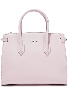 Furla Woman Pin Small Textured-leather Tote Lilac