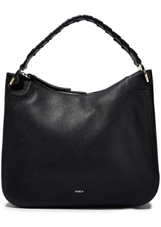 Furla Woman Rialto Pebbled-leather Shoulder Bag Black