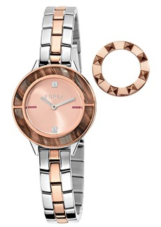Furla Women's Club Rose Gold Dial Stainless Steel Watch