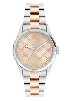 Furla Women's Eva Rose Dial Stainless Steel Watch
