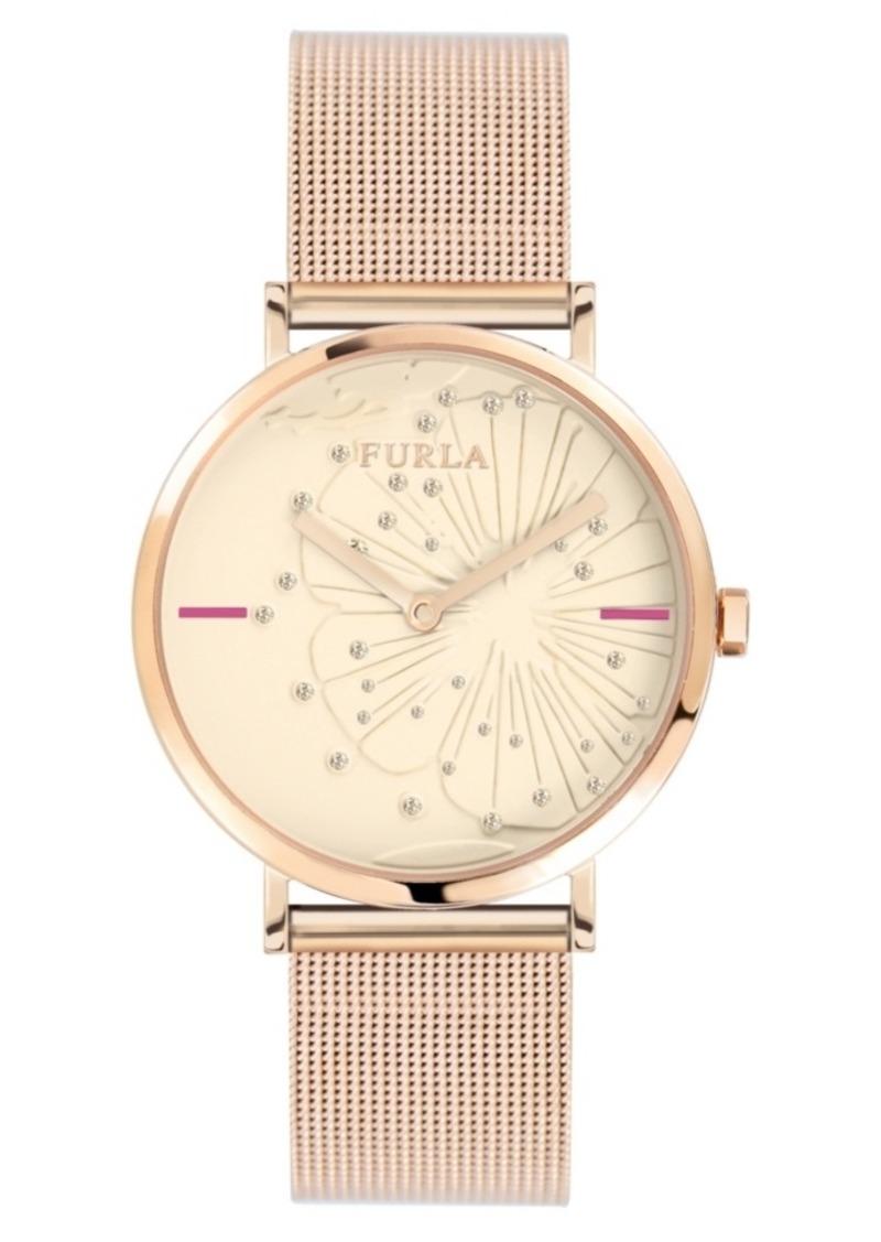 Furla Women's Giada Pink Dial Stainless Steel Watch