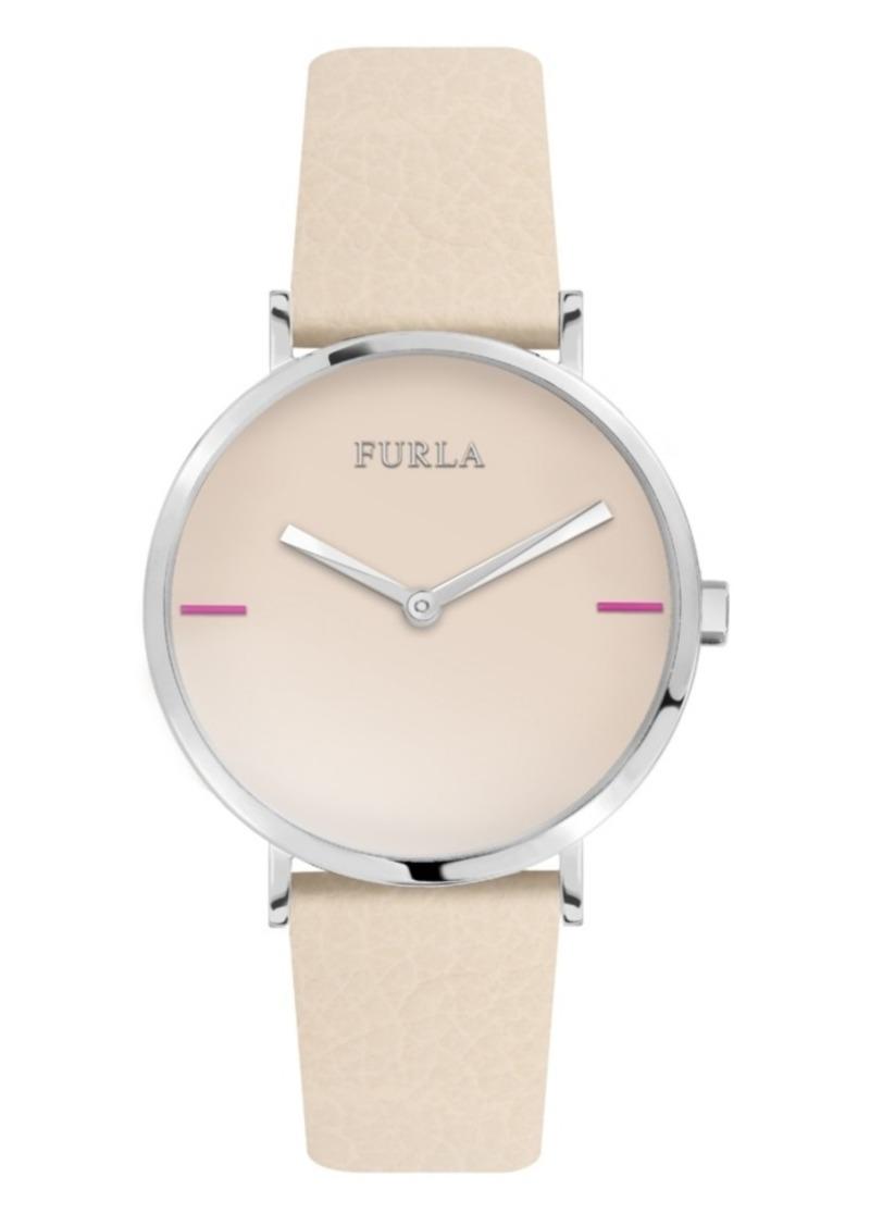 Furla Women's Giada White Dial Calfskin Leather Watch