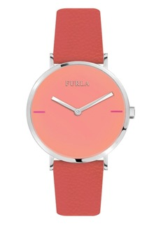 Furla Women's Giada White Dial Calfskin Leather Watch